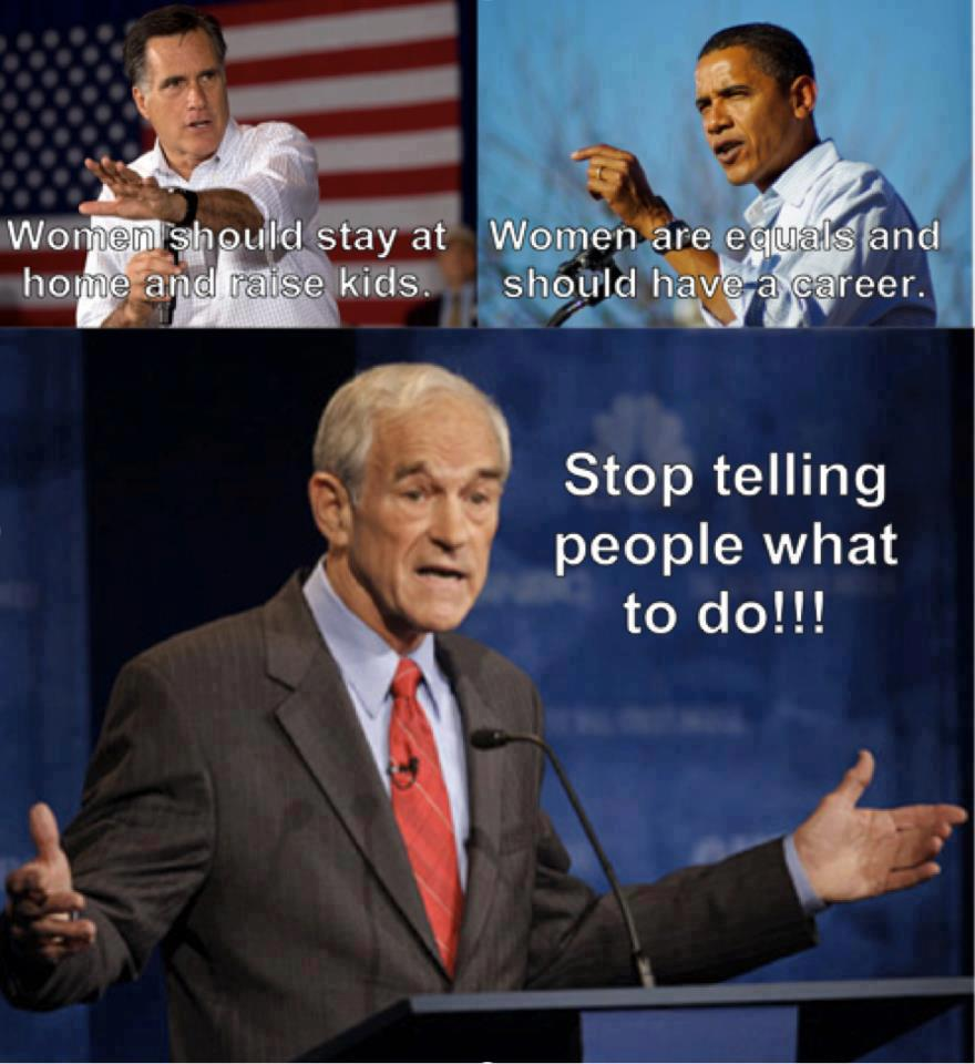 Original stop telling people what to do ron paul libertarian quote