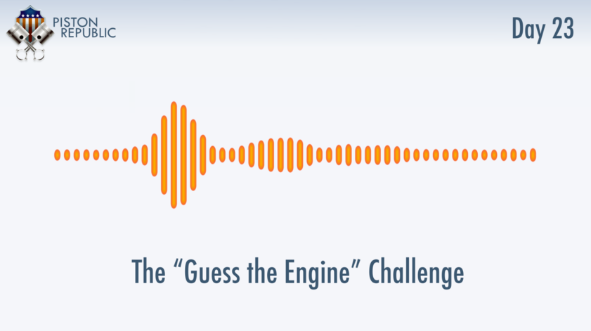 Accompanying image for The Guess The Engine Challenge / Day 23