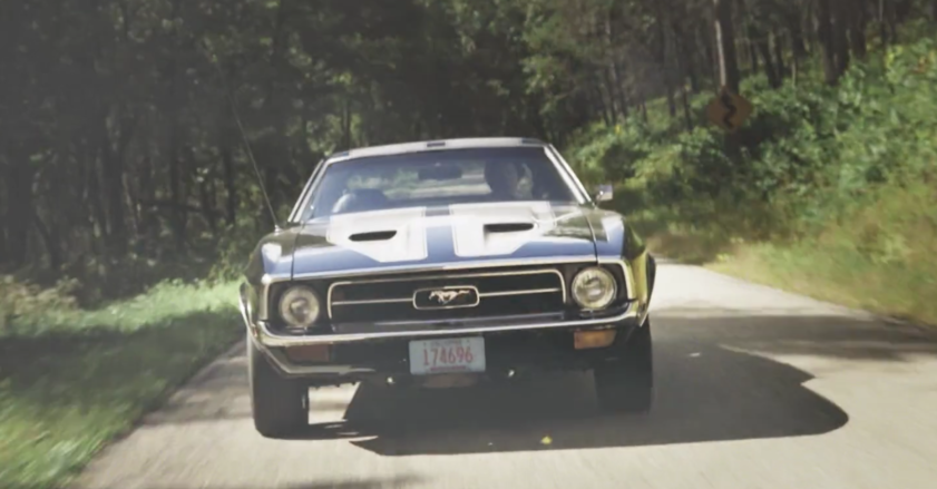 Accompanying image for Euphoria is a 1972 Ford Mustang